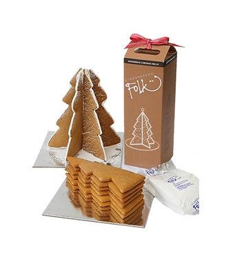 Gingerbread Folk Christmas Tree Kit 550g