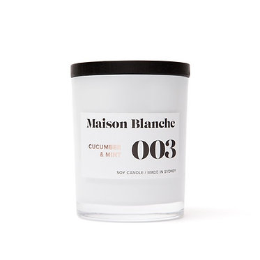 003 Cucumber & Mint / Medium Candle