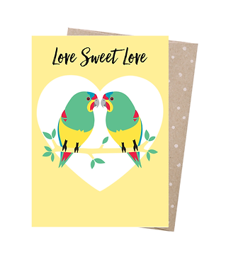 Earth Greetings Greeting Card - Swift Parrot Love