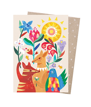 Earth Greetings Greeting Card - Animal Party