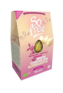 Plamil So Free White Chocolate Easter Egg with Bunny Bar 110g