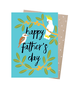 Earth Greetings Greeting Card - Fathers Day Bush Birds