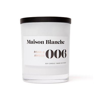 006 Rose & Amber / Large Candle 400g
