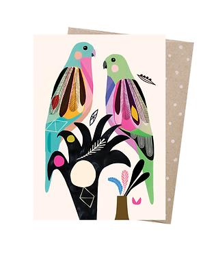 Earth Greetings Greeting Card - Princess Parrots