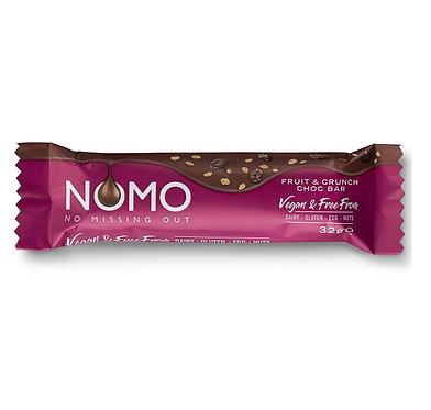 NoMo Fruit Crunch Choc Bar 38g