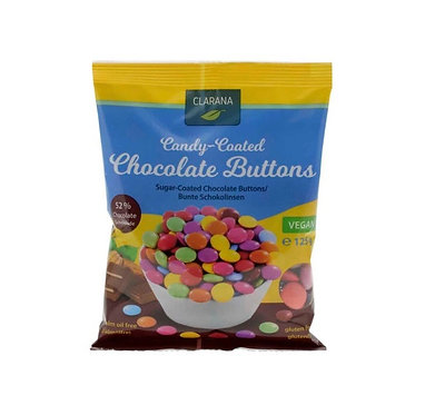 Clarana Candy Coated Chocolate Buttons 125g