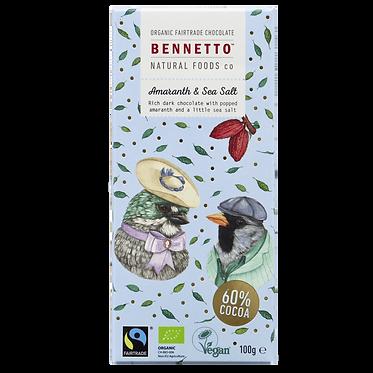 Bennetto Dark Chocolate Amaranth & Sea Salt 100g