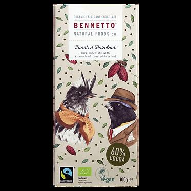Bennetto Dark Chocolate Toasted Hazelnut Bar 100g