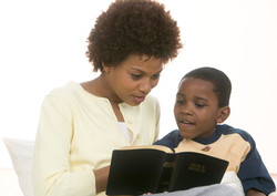mom+and+boy+with+bible