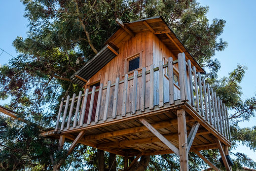 Treehouse for kids in the garden. Playho