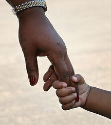 African-American family_ child is holdin