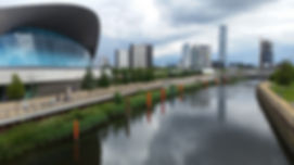 The London Aquatics Centre is located at