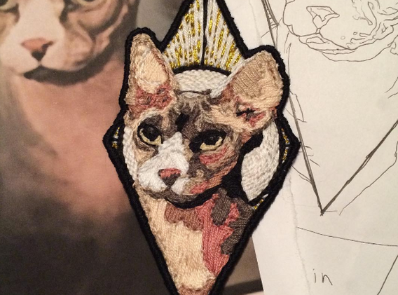 Hand embroidered patch, 2016