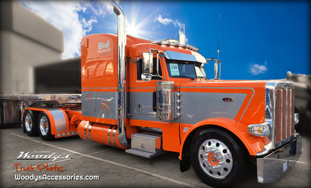 Orange Peterbilt Show Truck