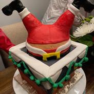 Santa down the Chimney Cake.JPG