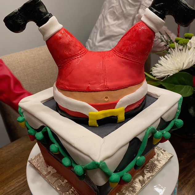 Santa down the Chimney Cake.JPG