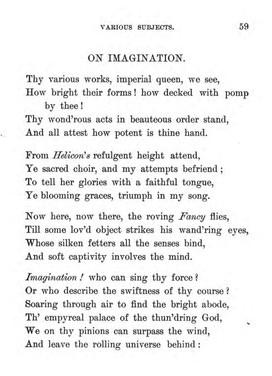 On Imagination, 1 of 2