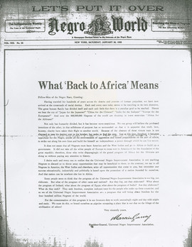 What 'Back to Africa' Means...