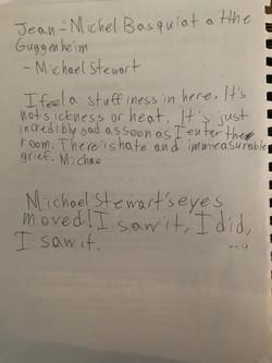 Michael Stewart Exhibition Notes