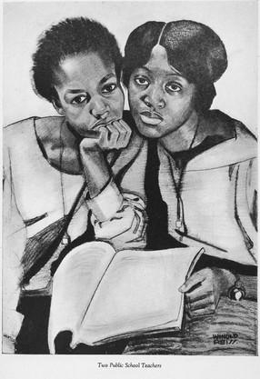 Four portraits of Negro women: Two public school teachers