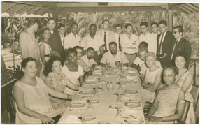 Gathering of African American and Cuban intellectuals in Havana