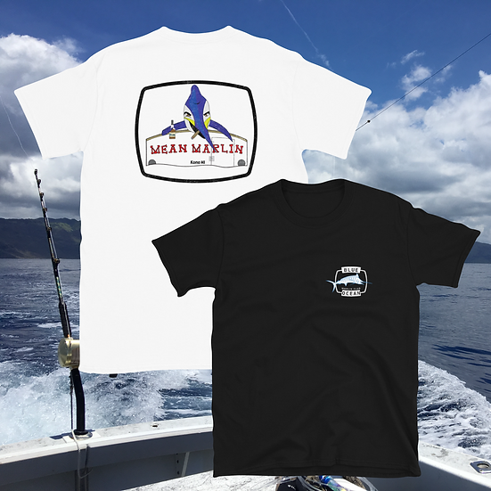 Mean Marlin T-Shirt (White + Gray)