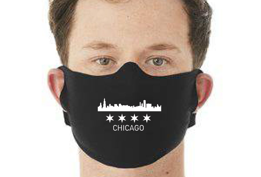 face mask Chicago Skyline