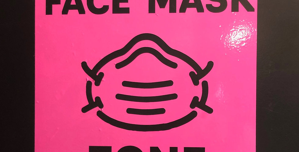 Face Mask Zone Decal