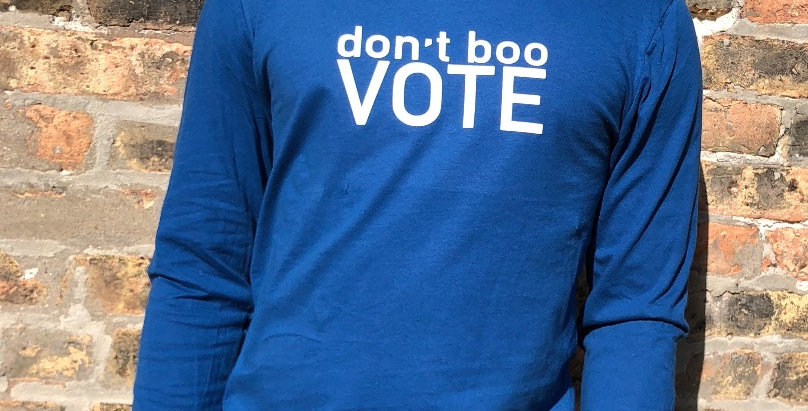 don't boo VOTE long sleeve