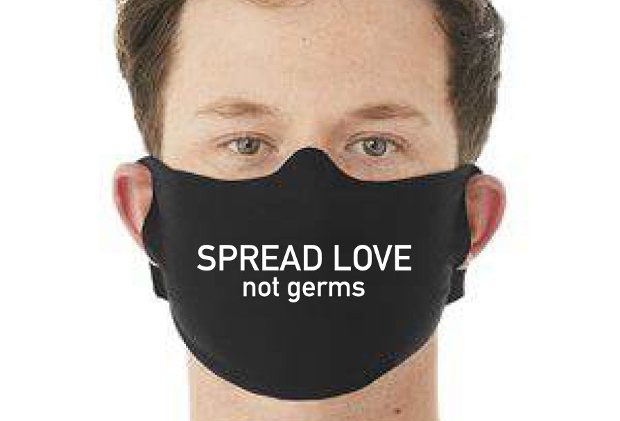 face mask SPREAD LOVE not germ