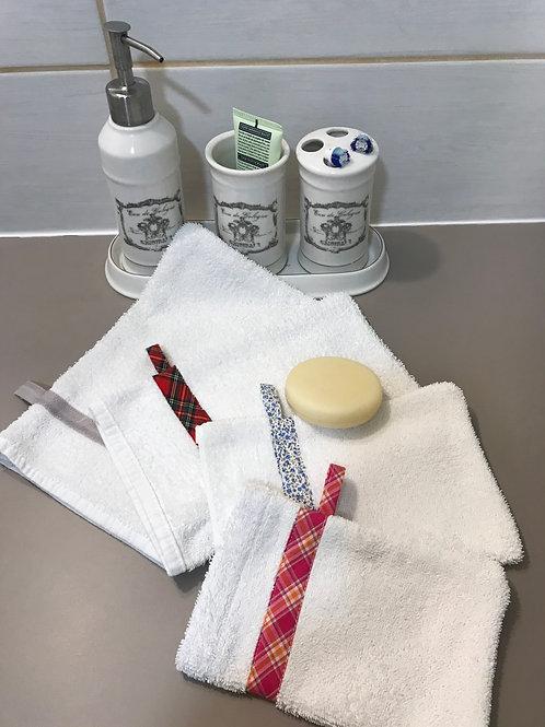 Patron pdf gant de toilette Zéro déchet 7 tailles
