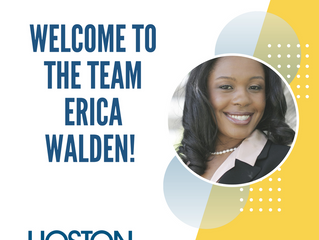 Welcome to the team Erica!