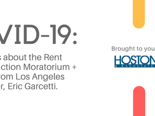 COVID-19 UPDATE:  Details about the Rent Freeze/Eviction Moratorium + Video from Los Angeles May, Er