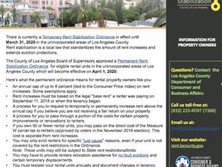 LA County Permanent Rent Stabilization Ordinance