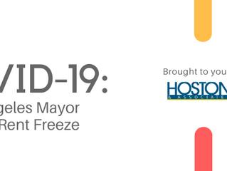 COVID-19 UPDATE: Los Angeles Mayor Orders Rent Freeze