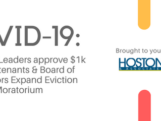 COVID-19 UPDATE: LA County Leaders approve $1k relief for tenants & Board of Supervisors Expand