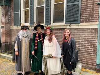 Professor Dumbledore, Professor McGonagall, Gryffindor common room painting & Tonks