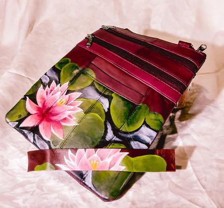 Lily In The Pond - Purse & Leather Bracelet Set