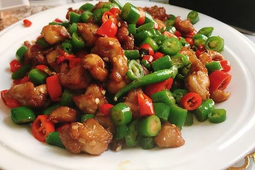 Braised chicken with chilli (93007)