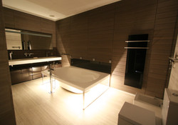 Санузел ванна с подсветкой