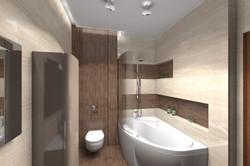 Санузел - вид на ванную