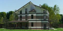 Трехэтажный дом в современном стиле
