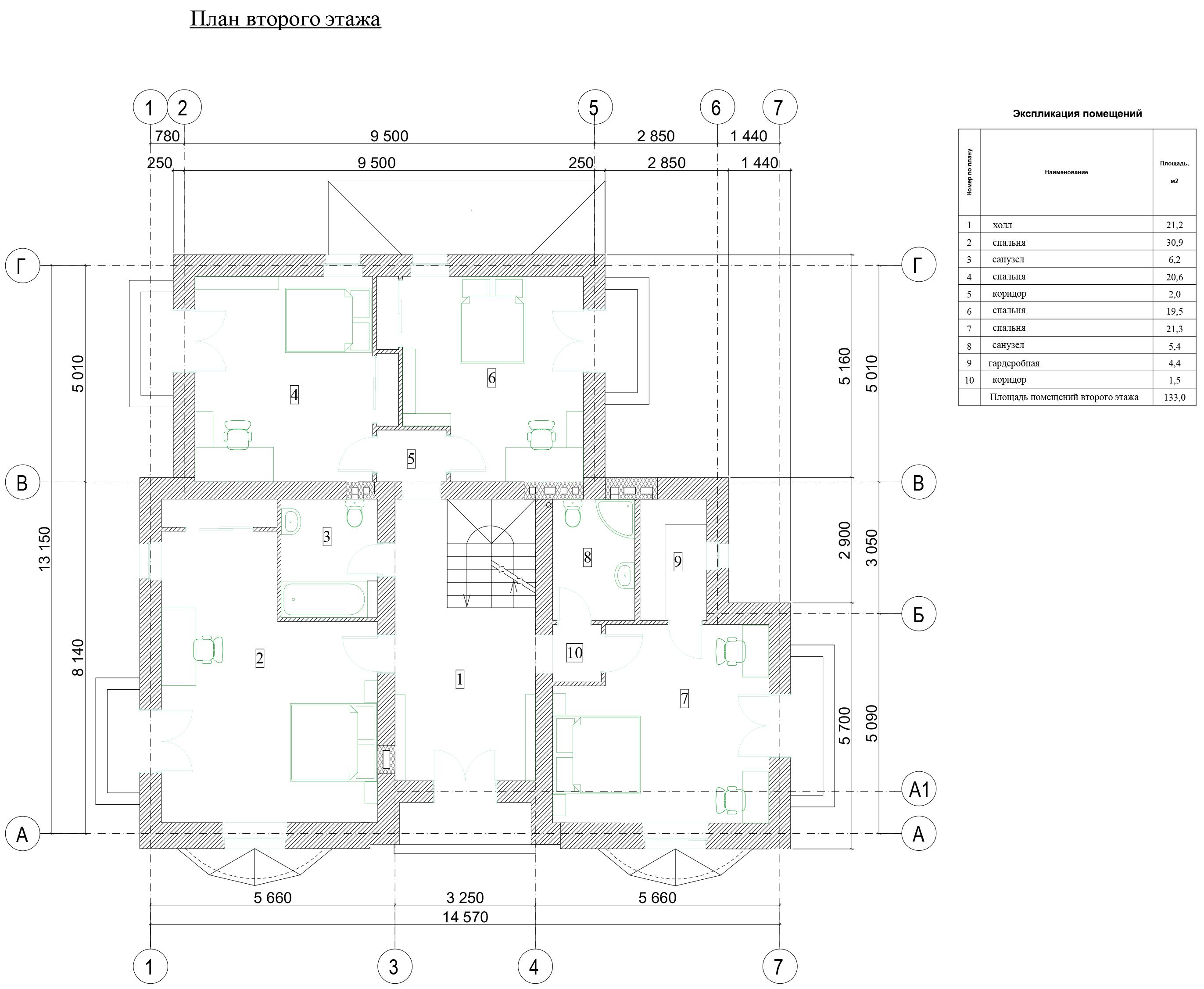 Планировка дома 2 этаж