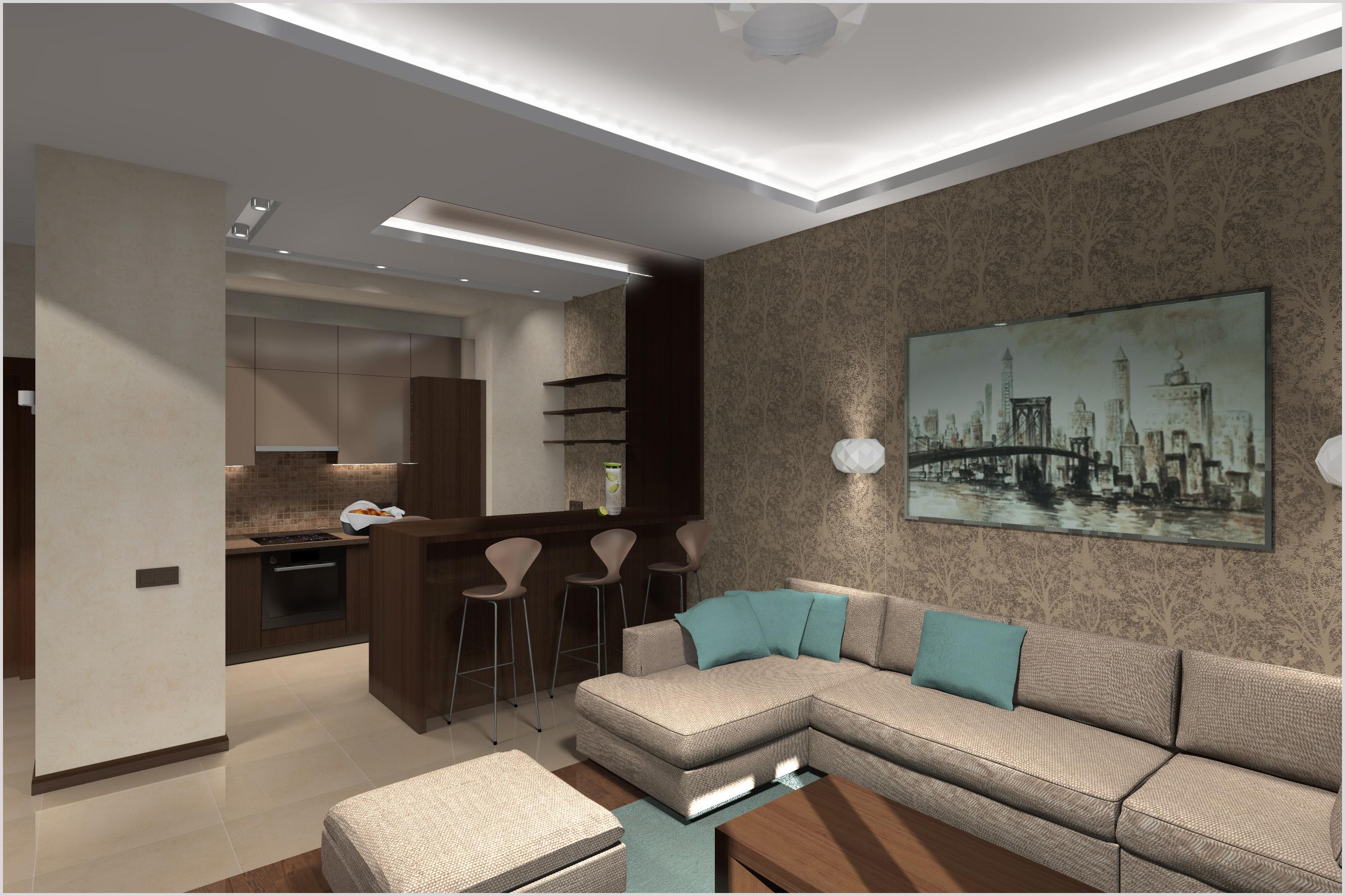 Гостиная -кухня квартиры