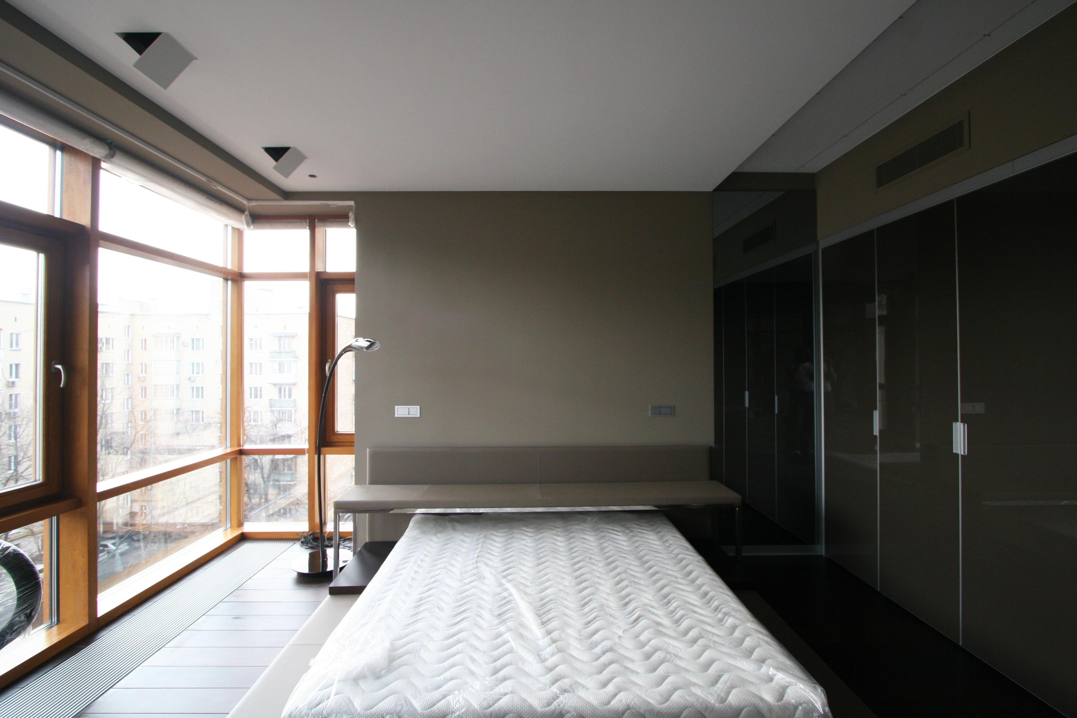 Спальня панорамные окна