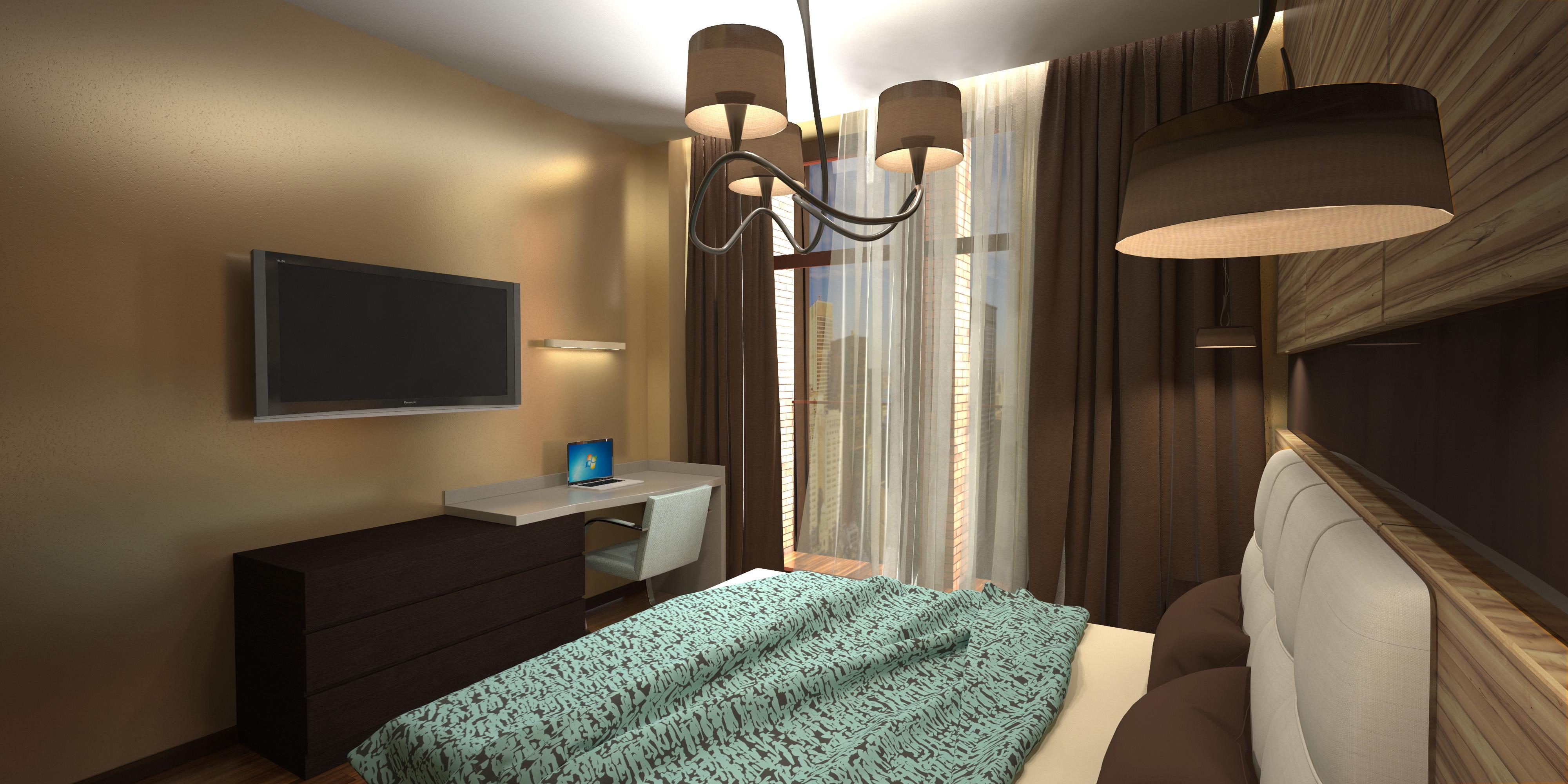 Спальня - вид на столик