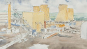 Drax Power Station Pen & Wash
