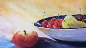 Breakfast Fruit Pastels.12x9ins