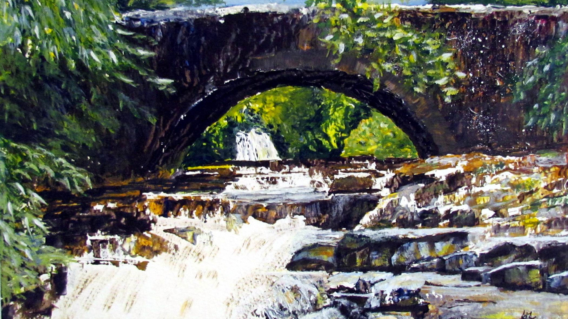Pack Horse Bridge, The Dales Acrylics