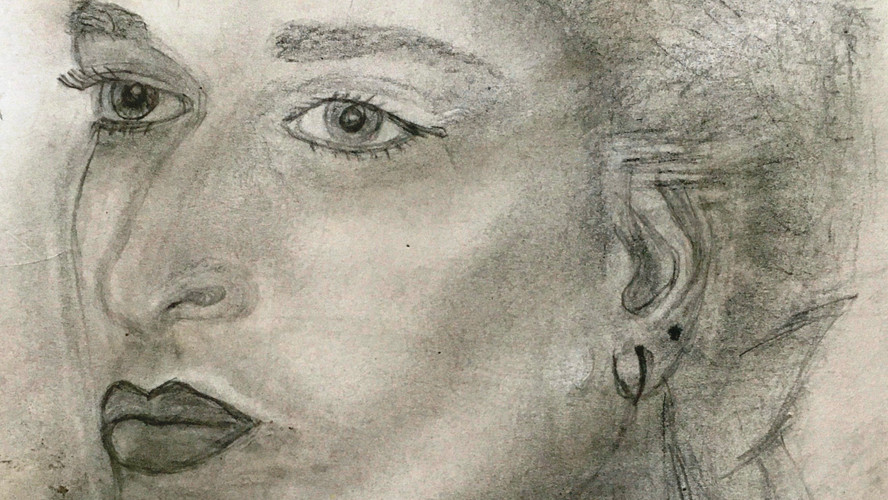 Portrait of Younger Self Pencil